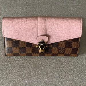 Auth Louis Vuitton Clapton Domier/Magnolia Wallet